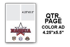 12U N.E. Regional Tournament Program Ad - Quarter Page Color