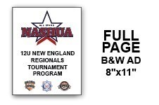12U N.E. Regional Tournament Program Ad - Full Page B&W