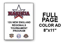 12U N.E. Regional Tournament Program Ad - Full Page Color